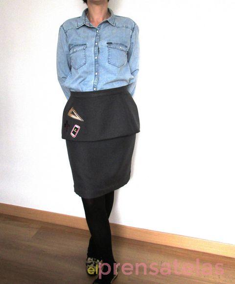 Peplum skirt pattern Burda Style