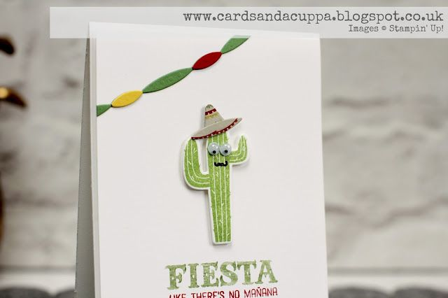 Sarah-Jane Rae cardsandacuppa: Stampin' Up! UK Order Online 24/7: Using NEW Birthday Fiesta Stamps and Dies by Stampin' Up!