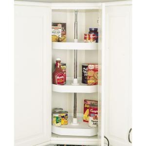 Rev-A-Shelf 3-Shelf 20 in. Polymer White D-Shape Lazy Susan Set-6273-20-11-536 - The Home Depot