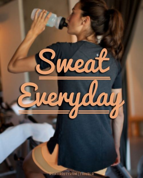 This one simple rule will keep you trim and healthy: SWEAT EVERYDAY.