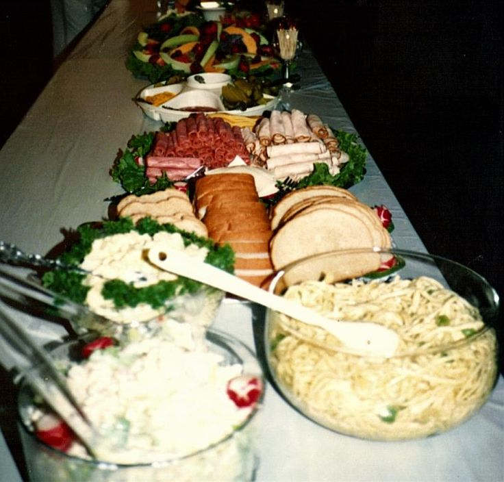 50th wedding anniversary party food