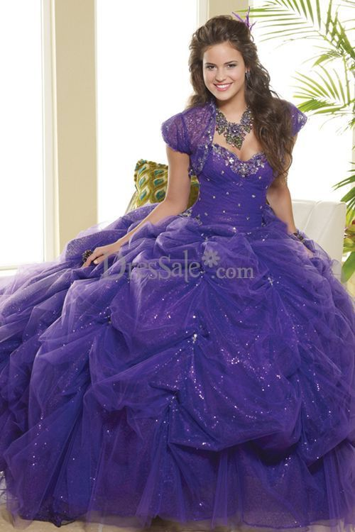 Look - Quinceanera Purple dresses with detachable skirt video