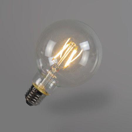 Bombilla filamento LED G95 4W 2700K transparente