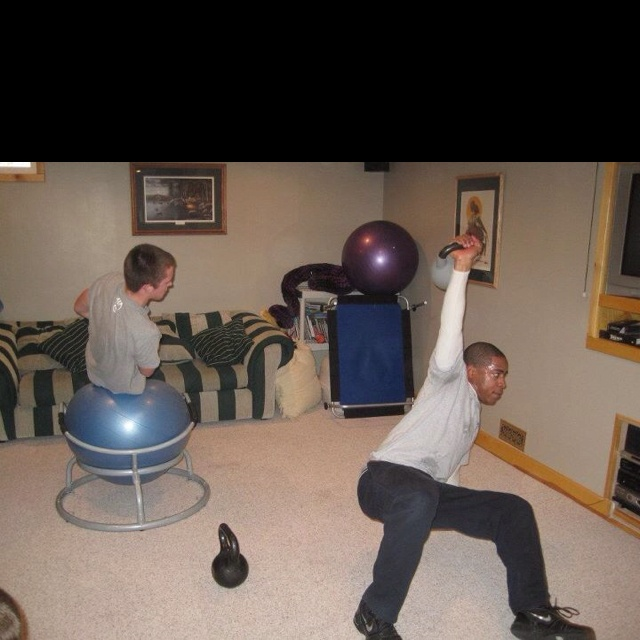 Oblique Crunch and Kettlebell Getup
