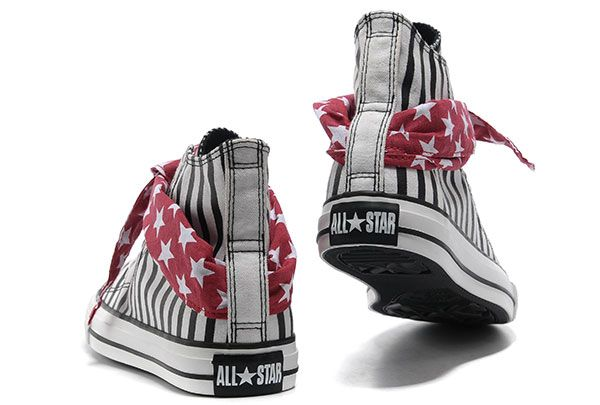 2014 Converse All Star American Flag sciarpa bianco blu Lavallière Stripes High Tops converse bianche basse foot locker italia