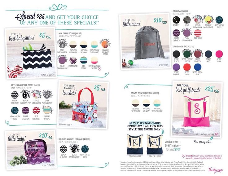 Dec 04,  · Save 40% on select new Thirty-One styles and Customer-favorites from the Winter Guide – all gifts you'll love! – with no limit and no qualifying purchase.