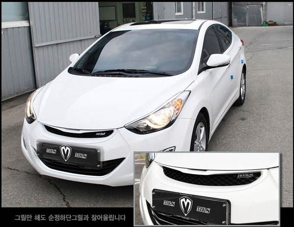 Radiator Grille Front Hood Grill Painted For Hyundai Elantra Avante MD