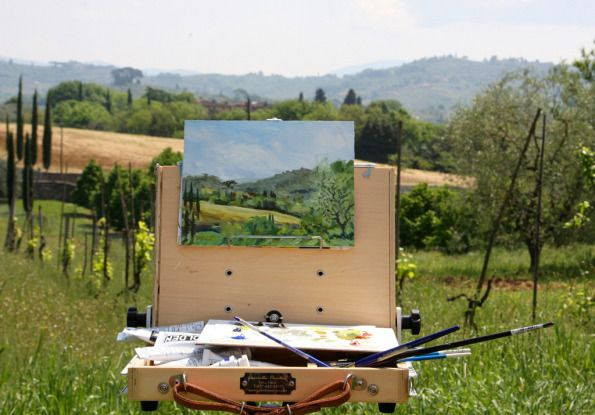 plein air painting southern Florence Italy by Terrill Welch 2014_04_25 136