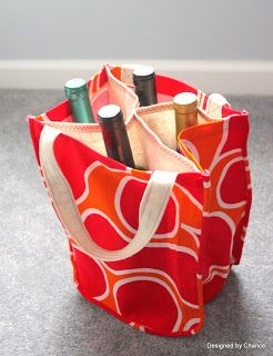Designed by Chance: DIY Wine Tote: AKA Booze Bag I'm gonna make this! Muchas gracias to Chance.