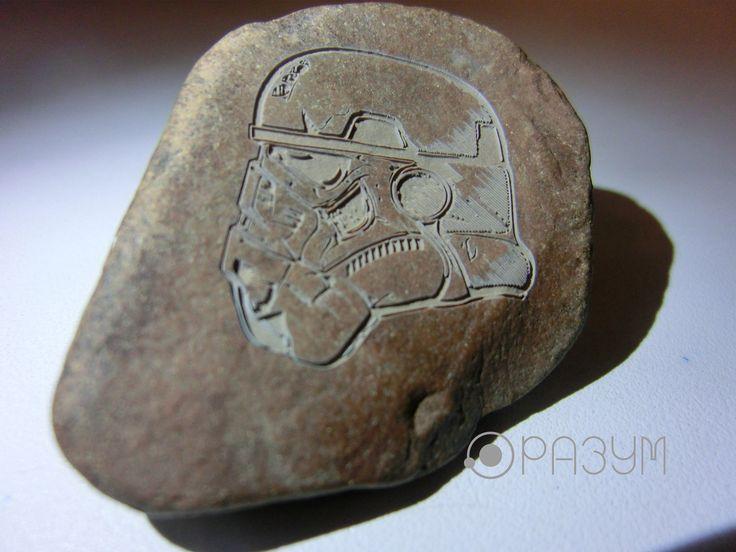 Лазерная гравировка на камне.  ++  Laser engraving on a stone.