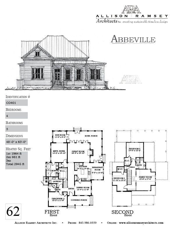 abbeville allison ramsey architects house plans in all styles for all - Architectural House Plans