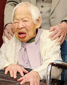 Misao Okawa.jpg Misao Okawa (大川 ミサヲ Ōkawa Misao?, sometimes romanized as Misawo Okawa; 5 March 1898 – 1 April 2015)[1] was a Japanese supercentenarian who was the world's oldest living person from the death of Japanese man Jiroemon Kimura on 12 June 2013 until her own death on 1 April 2015