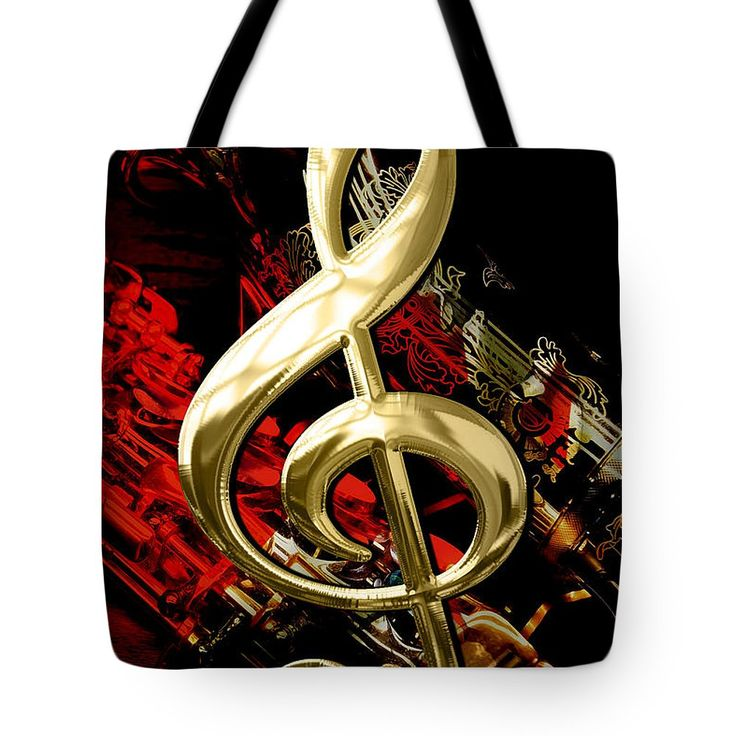 Music Tote Bag featuring the mixed media Saxophone Collection by Marvin Blaine