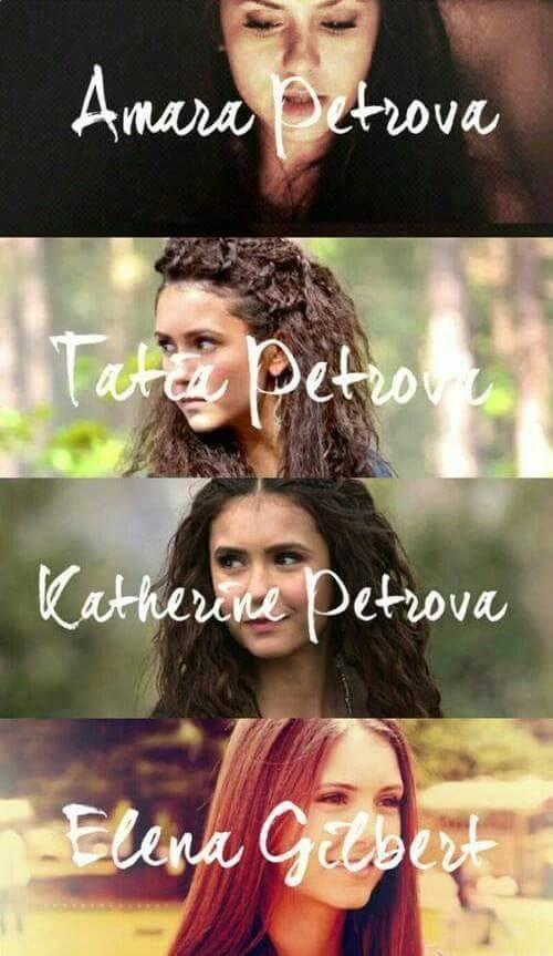 #TVD The Vampire Diaries Amara,Tatia,Katherine & Elena