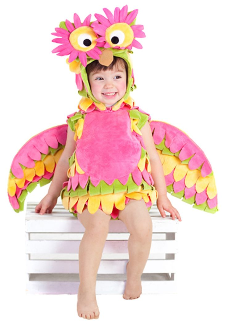 cute costumes for girls | Little Colorful Owl Costume