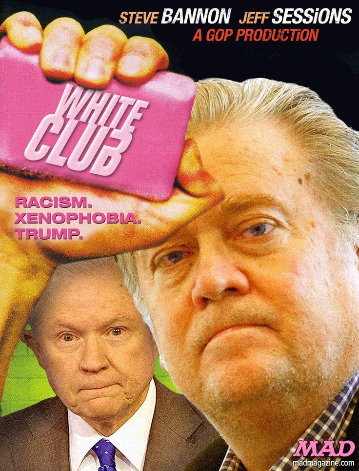 MAD Magazine, Idiotical Originals, Donald Trump, Steve Bannon, Jeff Sessions, Fight Club