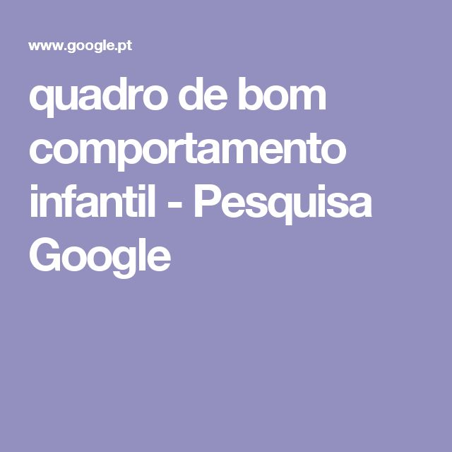 quadro de bom comportamento infantil - Pesquisa Google