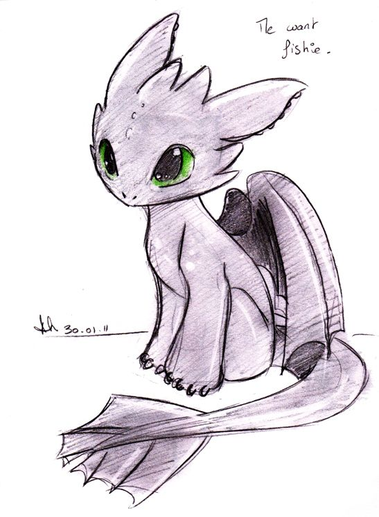 Baby Toothless. Isn't he cute? XD Couldn't resist! Toothless (c) Dreamworks