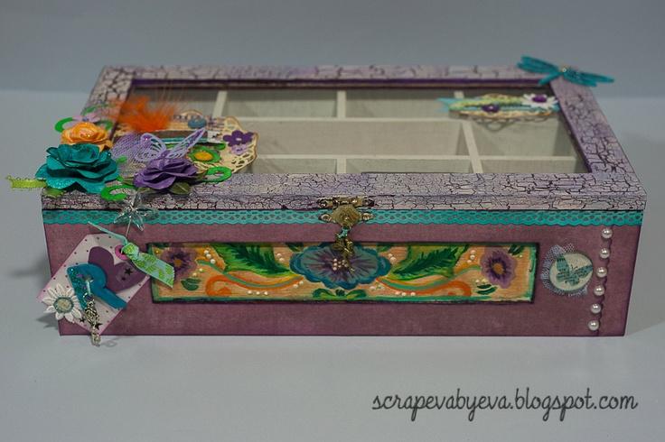 Scrapeva caja de madera decorada cajas pinterest - Cajas de madera decoradas ...