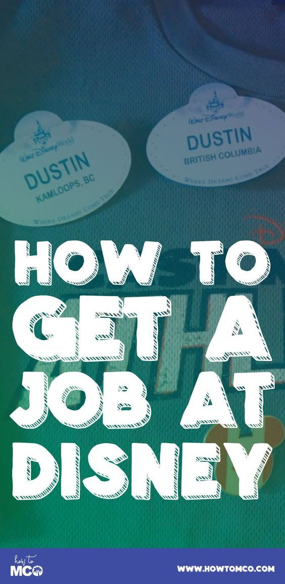 The the best information you need to find and get a job at Walt Disney World