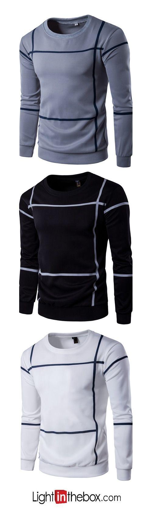 Men's Plus Size Sports Casual/Daily Simple Active Sweatshirt
