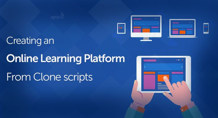 Creating an online learning platform from clone scripts.