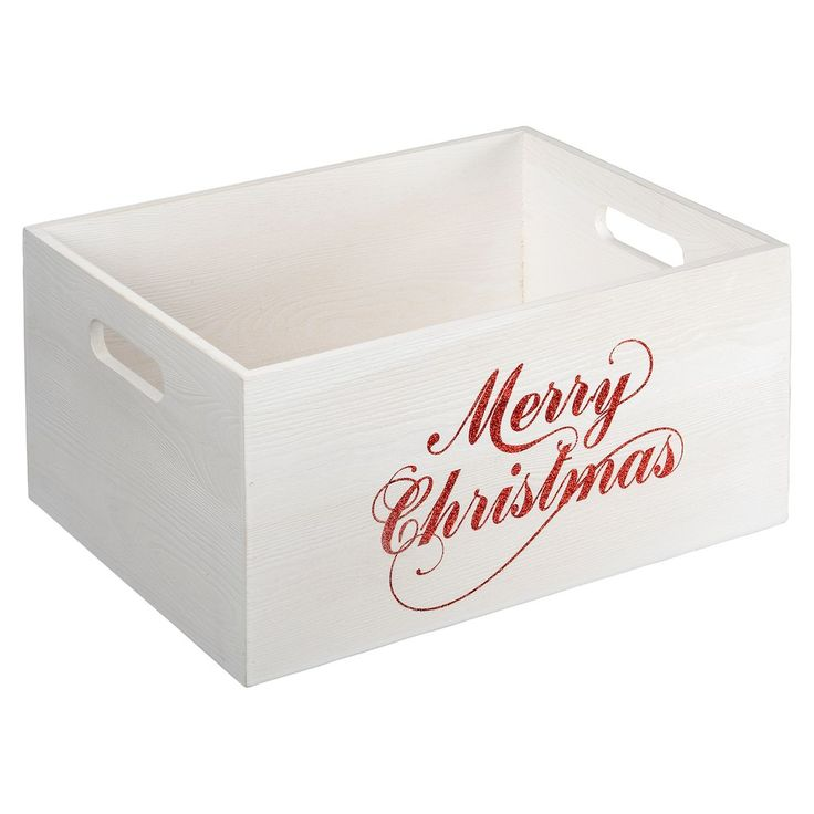Purchase the Large Wood Crate with Glitter Words By Ashland® at Michaels.com. This large wood crate by Ashland features 'Merry Christmas' written on it with beautiful, red glitter.