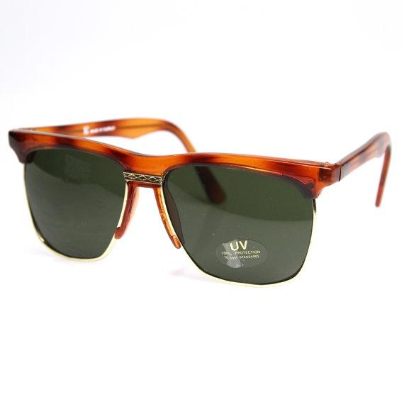 Clubmaster Style Wayfarer Sunglasses Square Half Frame by lelove, $9.95