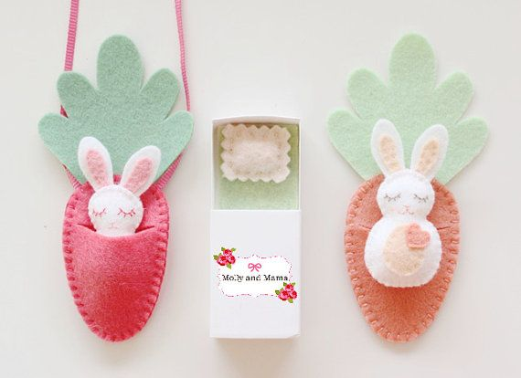 FELT BUNNY PDF Pattern 'Bitty Bunnies' Easter by MollyandMama