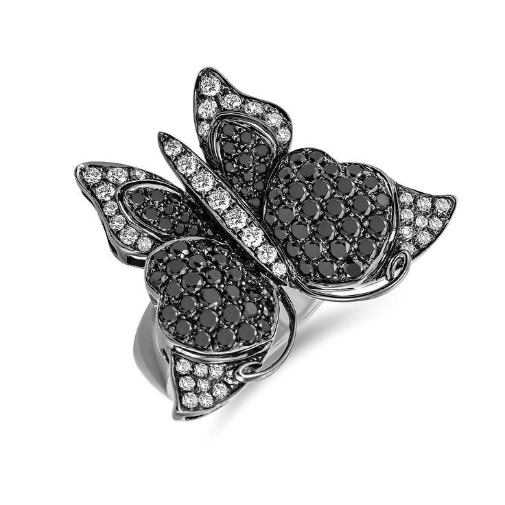 Ring ALO Dark Butterfly www.alodiamonds.com www.alo.cz