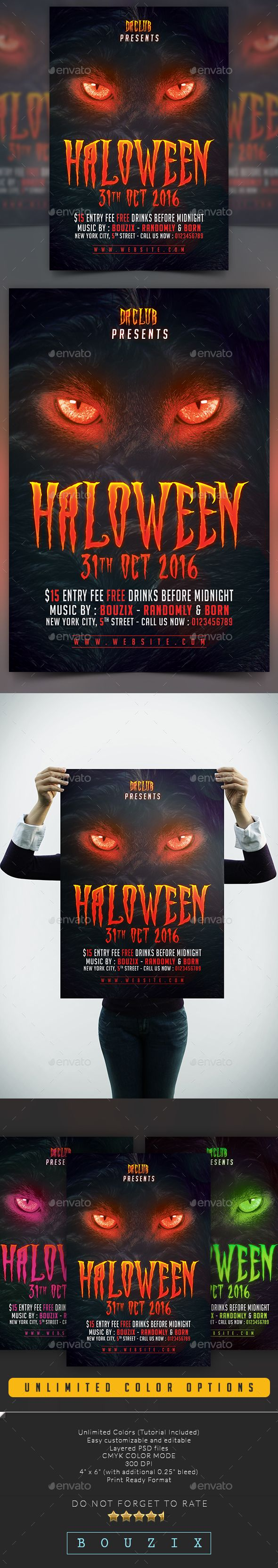 Free Halloween Flyer Templates Photoshop Kubreforic