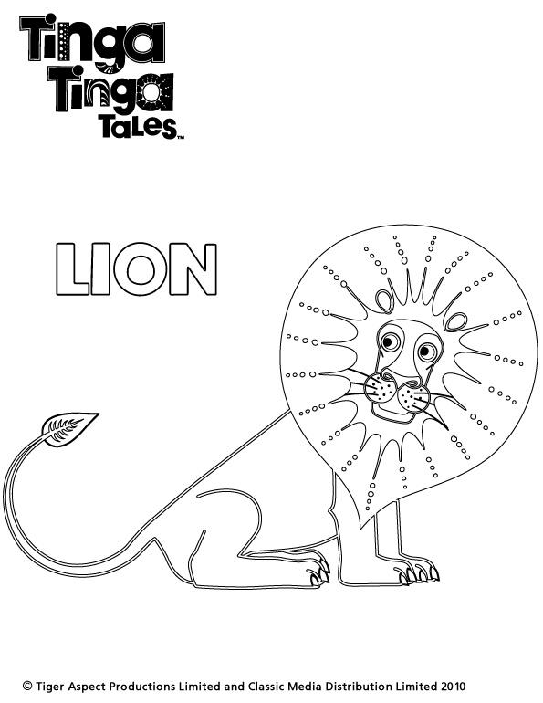 Tinga Tinga Tales Black and white picture of Lion