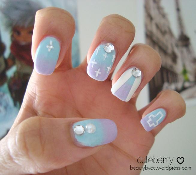 Manicure Mondays: Pretty Pastel Goth Nail Art - Cuteberry :3