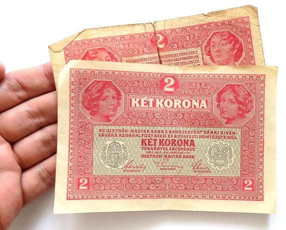Circulated two crowns banknote from Austro-Hungary. Nominal value: ket (2) korona / zwei kronen. Text in various languages of the Austrian-Hungarian monarchy (German, Hungarian, Slavic).  Issued by the Austro-Hungarian Bank on March 1st 1917.  Dimensions: 48 X 32 mm (1.8 x 1.2 inches).  The price refers to one banknote.  Two items available.  The less circulated item shall be shipped first :)  Ready to send.