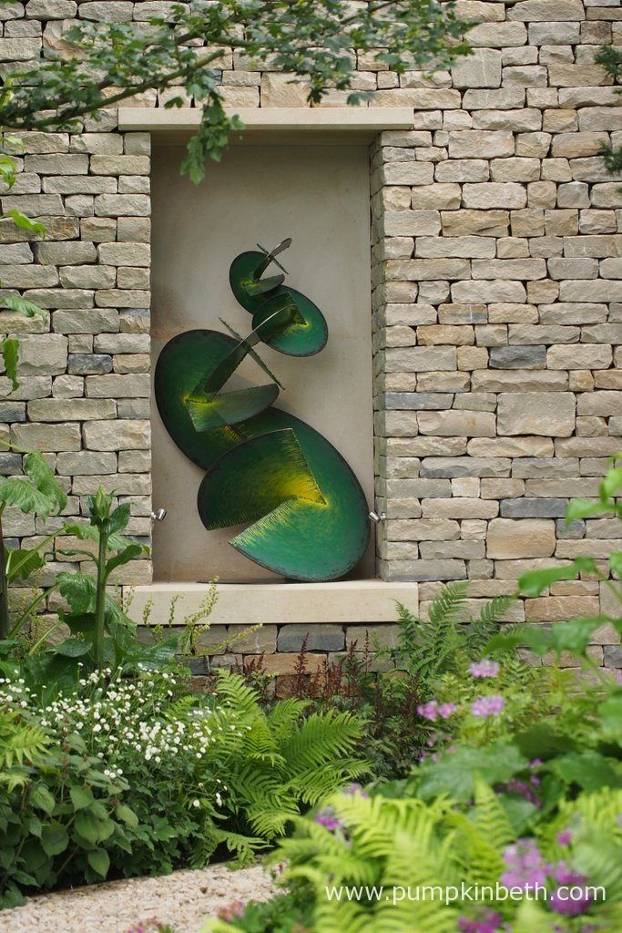 This sculpture, Garden Goddess, was designed by Craig Schaffer, and featured in The Morgan Stanley Garden, at the RHS Chelsea Flower Show 2017.