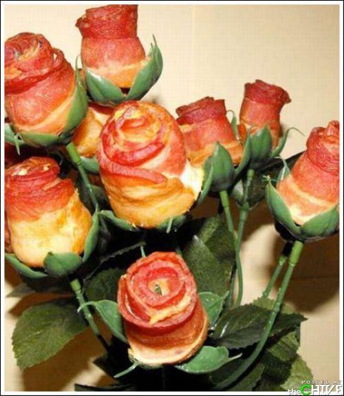 Make your own bacon roses (21 Photos)
