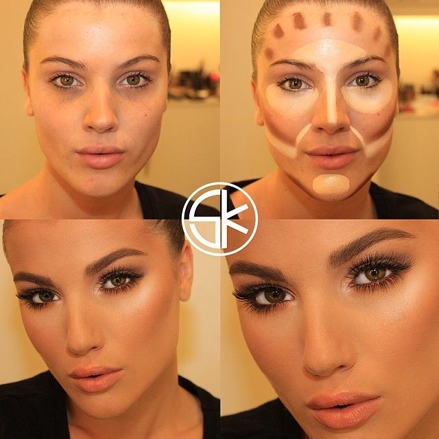 contouring and natural eye makeup for brown eyes