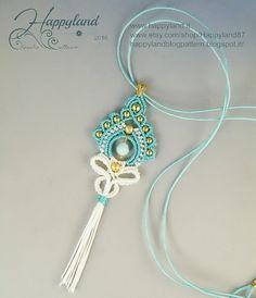 India macramè earrings or pendant pattern di Happyland87 su Etsy