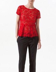 Blusas rojas con encaje 1