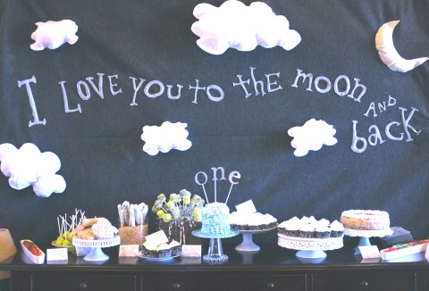 I love you to the moon and back first birthday