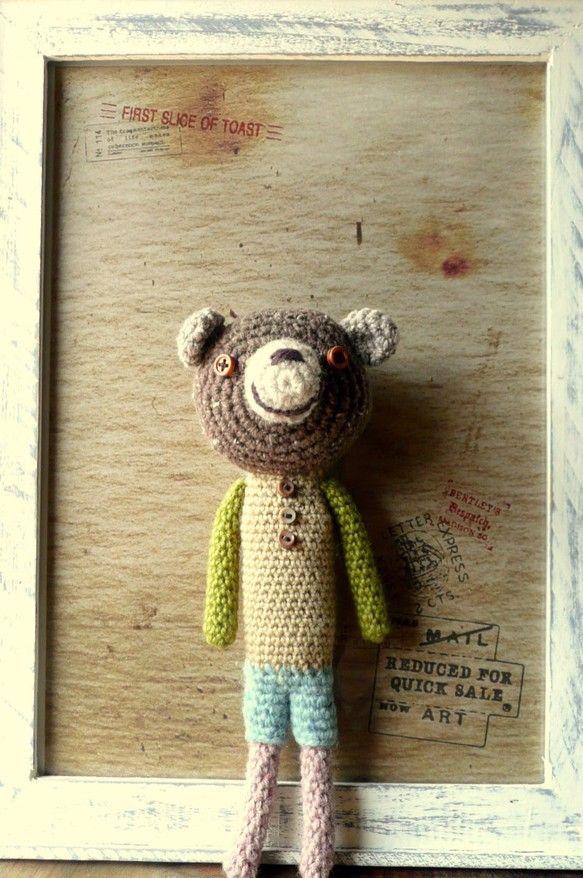 かぎ針編みのくまのアイデア♡ナチュラルな色使いでユルかわいいくまちゃん❤︎