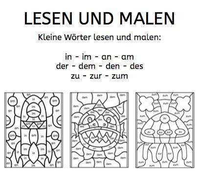 kleine w rter lesen und malen deutsch school. Black Bedroom Furniture Sets. Home Design Ideas