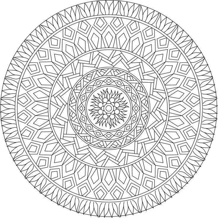 17 Best ideas about Mandala Printable
