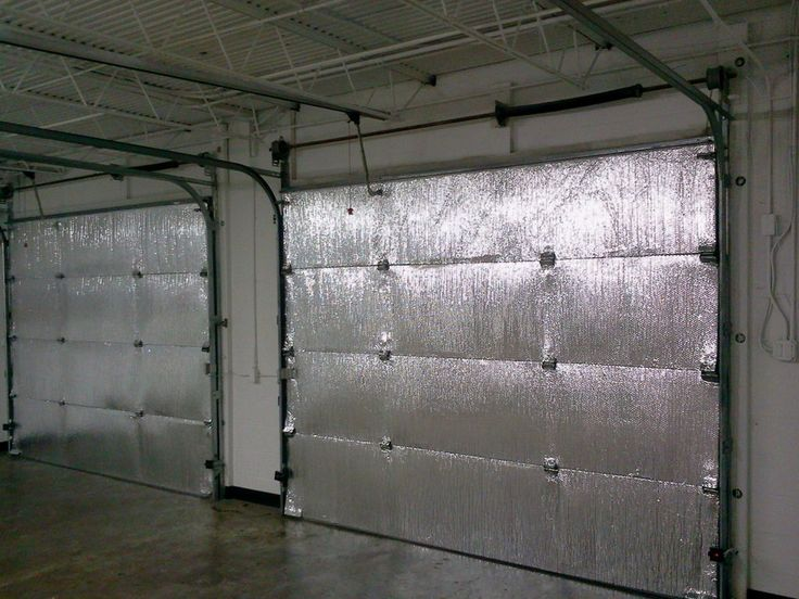 Make your garage energy efficient. Easy install of radiant barrier insulation to garage doors. #home #weather