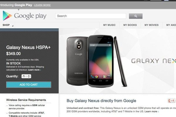 Google cuts the price of the HSPA Galaxy Nexus to $349, adds Jelly Bean