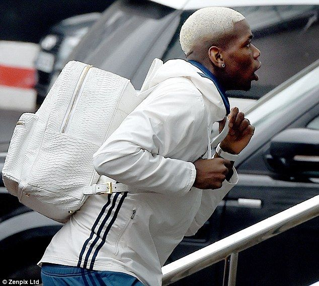 Paul Pogba pictured arriving with his latest haircut ahead of Wednesday night's game