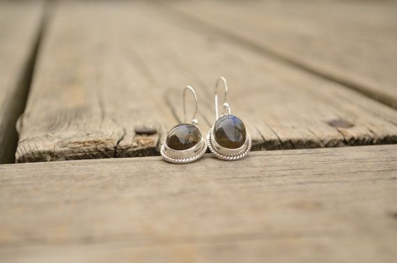 Genuine Newfoundland LABRADORITE Sterling Silver Earings e34 on Etsy, $50.00 CAD