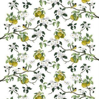 Med Viktoria tyg från Arvidssons Textil får du en härlig dos av vår och sommar. Tyget är digitaltryckt med ett mönster skapat av Mialotta Arvidsson Mars där blommande äppelkvistar samsas med charmiga småfåglar. Bomullstyget har många användningsområden men kan exempelvis användas till gardiner eller som en fin duk! Välj mellan olika färger.