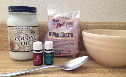 Homemade thieves tooth paste. http://www.growing4hisglory.com/homemade-thieves-toothpaste.html