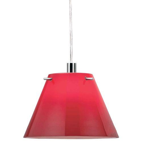 Modern Red Pendant Lighting : Hanging lamp art glass modern red pendant light
